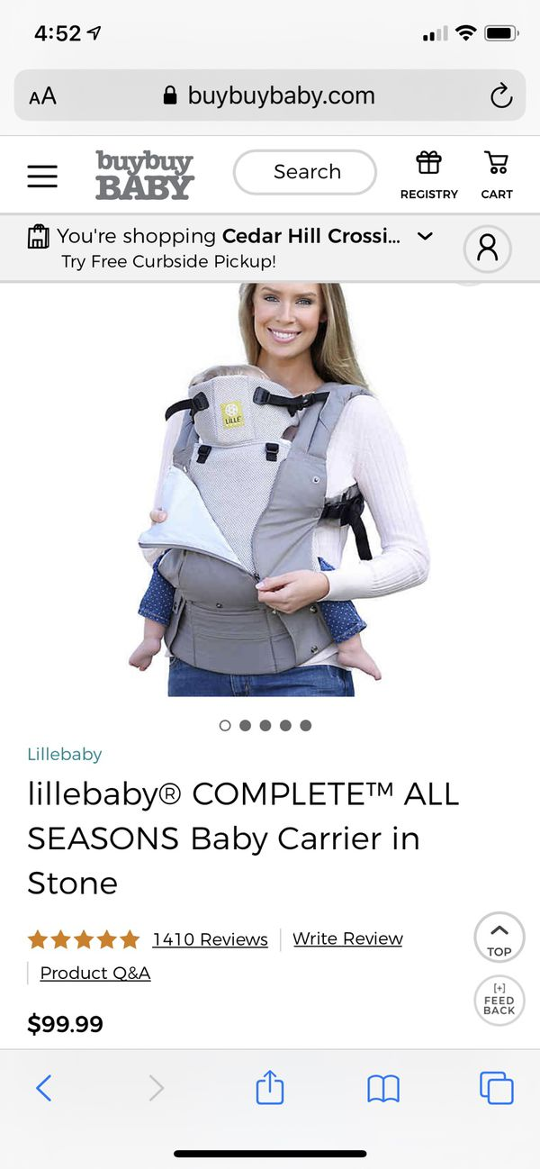 Like New Lillebaby Complete All Seasons baby carrier