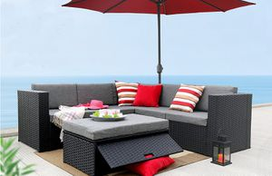 Outdoor Patio Furniture | Black (pick up only) for Sale in San Bernardino, CA