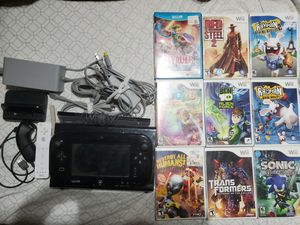 Nintendo Wii u with 10 games. for Sale in Temple, TX