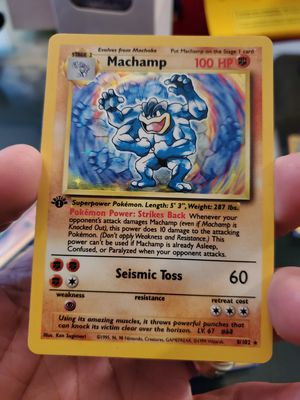 Pokemon Card 1st Edition Machamp Holo Near Mint Condition for Sale in Houston, TX