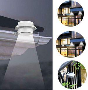 Outdoor Solar Gutter LED Lights - White Sun Power Smart Solar Gutter Night Utility Security Light for Sale in Ontario, CA