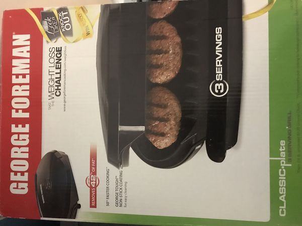 George Foreman weight loss grill