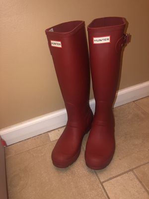 Military Red Tall Hunter Boots for Sale in Dearborn Heights, MI