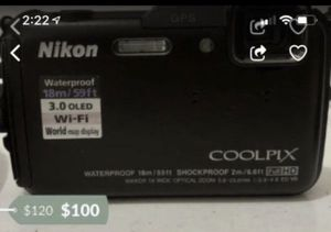 Nikon coolpix AW110 digital waterproof camera with gps for Sale in Rialto, CA