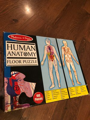 Melissa and Doug human anatomy floor puzzle - homeschool - . Recommended for ages eight and up for Sale in AZ, US