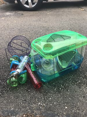 Hamster cage with accessories for Sale in Aurora, IL