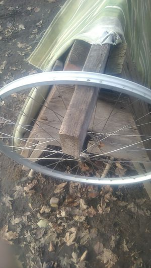 """Bicycle 26"""" front wheels (2)use on bike,or repurpose. for Sale in Roseville, MI"""