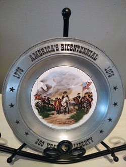 Vintage 200 Years Of Liberty Pewter Plate for Sale in Pleasant Hill,  IA