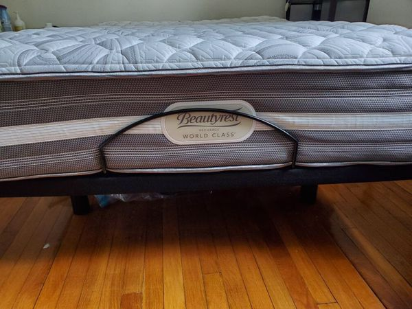 Queen size electric base bed.