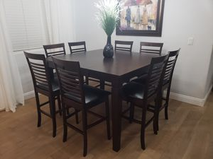 Dining table and 8 chairs and leaf, pub for Sale in Peoria, AZ
