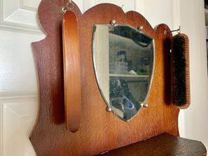 Vintage hanging wood shoe shine box for Sale in Alexandria, VA