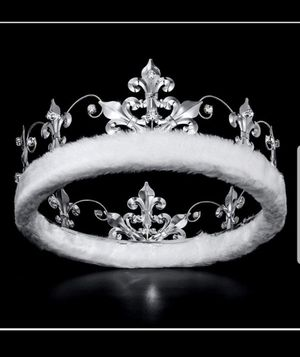 DcZeRong Men Birthday Crowns Silver King Crowns Adult Costume Crown Prom Crown Full Tiaras Crown for Sale in Los Angeles, CA
