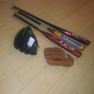 Baseball Bats And Mittens for Sale in Lynnwood, WA