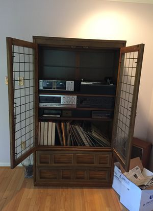 Entertainment center, record player, equalizer, tape deck, receiver for Sale in Haymarket, VA