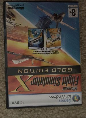 Used, Microsoft flight simulator X gold edition for Sale for sale  Pingree Grove, IL
