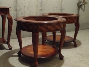 Set of four real wood tables for Sale in Chicago, IL