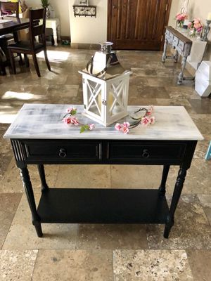 Black and white console table for Sale in Scottsdale, AZ