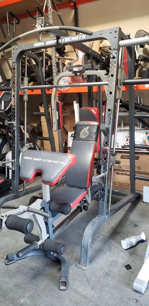 Smith machine with bench and weights for Sale in Anaheim, CA
