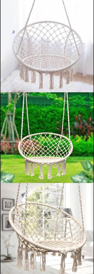 Hanging Cotton Rope Macrame Hammock Chair Swing Outdoor Home Garden 300lbs for Sale in El Monte, CA