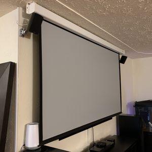 "92""Elite LOCH Gray Motorized Projection Screen for Sale in Milwaukie, OR"