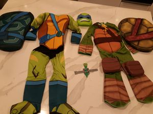 Teenage Mutant Ninja Turtle Costumes Size Small , Mask & Weapon - take all for $8 for Sale in Rancho Cucamonga, CA