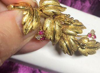 18k Gold Tiffany And Co Diamond Brooch for Sale in Miami,  FL
