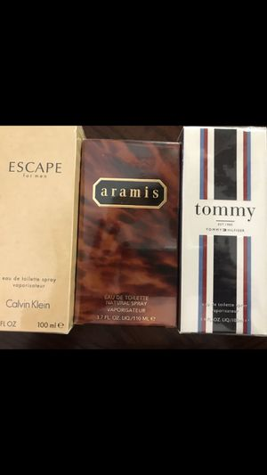 Escape ,aramis and tommy colognes for Sale in Aliso Viejo, CA