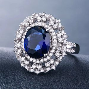 Oval Cut Blue Sapphire Ring for Sale in Rose Hill, NC