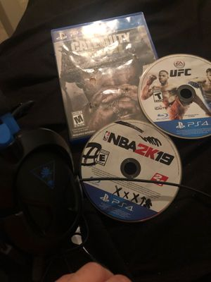 Headset, 3 games for Sale in Austin, TX
