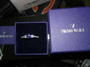 Swarovski blue sapphire ring for Sale in North Webster, IN