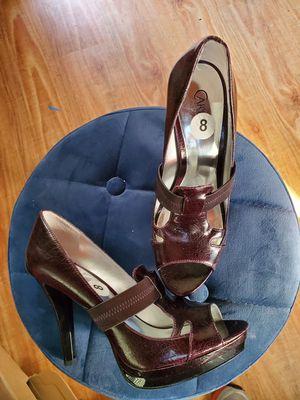Carlos Santana size 8 heels new maroon for Sale in West Covina, CA