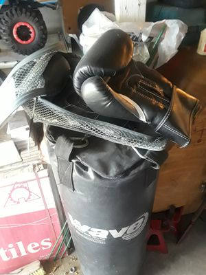 60 lbs wave punching bag & 16 oz gloves for Sale in Seminole, FL