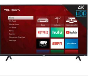TCL 50in roku TV with wall mount price flexible to an extent for Sale in Fall River, MA