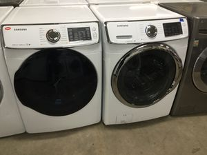 (Anoka 16685-AB AS) Samsung White Front Load Washer & Dryer for Sale in Ramsey, MN