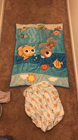 Finding Nemo blanket bed set sheets pillow for Sale in Newport News, VA