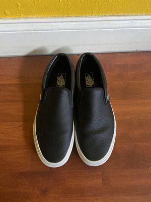 Men's leather vans slip on for Sale in Costa Mesa, CA