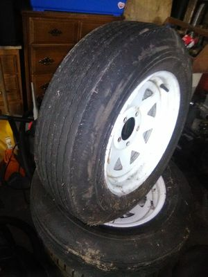 2 5 lug trailer wheels and tires for Sale in Windsor Locks, CT