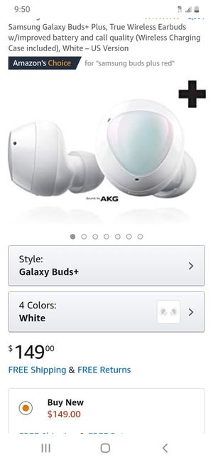 White Pearl Samsung Galaxy Buds Brand New Original Condition+ True Wireless Earbuds Quality Charging Wireless Caes for Sale in Hialeah, FL