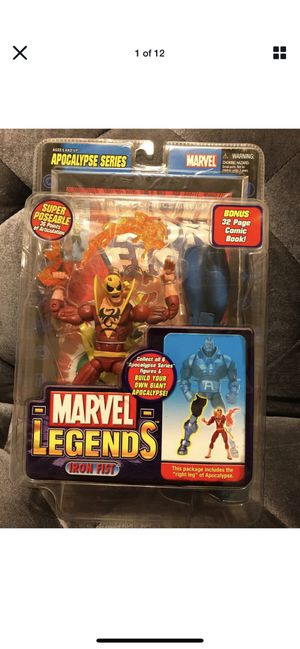 "Marvel Legends Iron Fist Red Variant 6"" Apocalypse Series BAF Right leg -New for Sale in Fresno, CA"