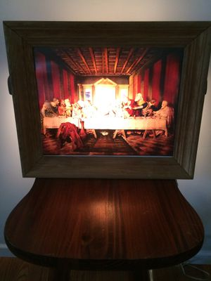 Last Supper lighted framed picture for Sale in Alsip, IL