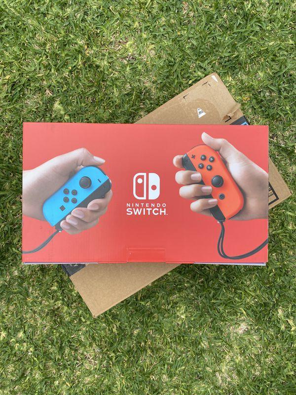 Nintendo Switch (V2) Console w/ Neon Blue & Red Joycons ***BRAND NEW VERSION***