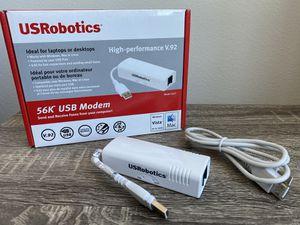 USRobotics 56k USB Modem Faxing Windows & Mac for Sale in Dallas, TX