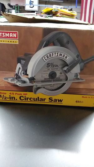 Craftsman 5 and 1/2 inch circular saw for Sale in Fontana, CA