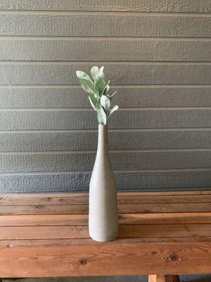 Large ceramic vase with fake plant for Sale in Visalia, CA