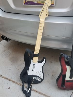 Rockband and guitar hero guitar- hurry! for Sale in Queen Creek, AZ