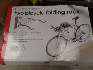 The Art of StoragePablo Folding 2-Bike Silver Rack with Shelf for Sale in Phoenix, AZ