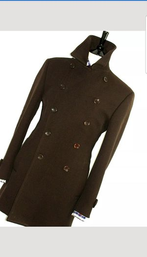 MENS D&G DOLCE & GABBANA BROWN MILTARY PEACOAT OVERCOAT COAT JACKET 40R for Sale in Boston, MA