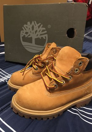 Toddler size 8 timberland boots(perfect condition) for Sale in Houston, TX
