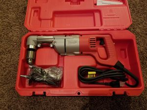 Milwaukee 7Amp Corded 1/2 in. Corded Right-Angle Drill Kit with Hard Case for Sale in Modesto, CA