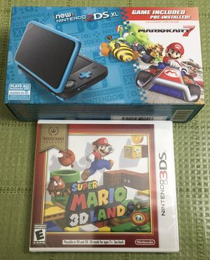 Nintendo 2DS XL with Mario Kart 7 Pre-Installed & a Super Mario 3D Land Game - NEW!🔥🔥🔥 for Sale in Skokie, IL